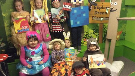 Children at Clarkson Infant & Nursery School in Wisbech dress up as their favourite fictional charac