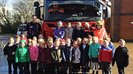 Wisbech firefighters had a visit from Elm Road School in which the reception class children learnt a