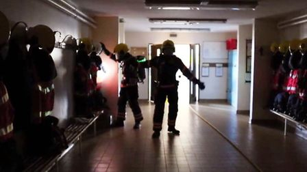 Wisbech crews perform the BA shuffle in nightclub fire safety video