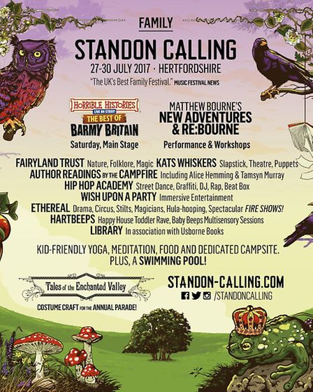 Standon Calling 2017 family programme