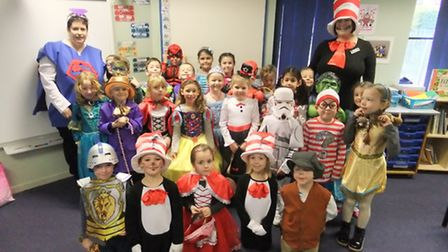 A year one class at Anthony Curton Primary School in Walpole St Peter celebrated World Book Day by d