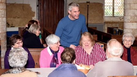 Steve Barclay MP with ladies at the Lent Lunch in Tydd St Giles.