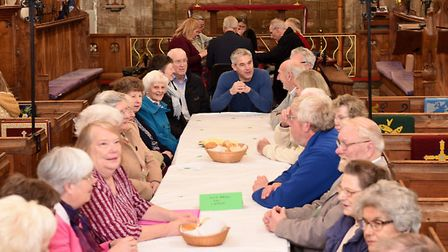 Steve Barclay MP choosing his ticket from Freya Barnes at the Lent Lunch