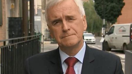 John McDonnell speaking to Sky News' All Out Politics. Photograph: Sky.
