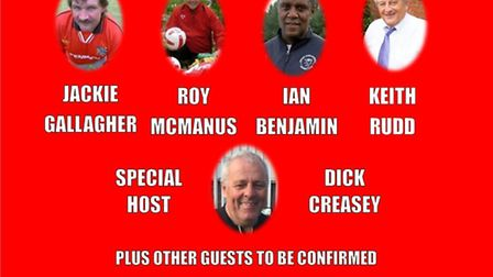 Wisbech Town are holding a Legends night on Friday March 10. PHOTO: Wisbech Town Football Club