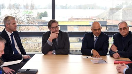 Communities Secretary Sajid Javid.in Wisbech today to support the Conservative candidate Councillor