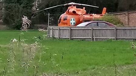 Touching down in Elm, Magpas air ambulance on its way to treat injured child