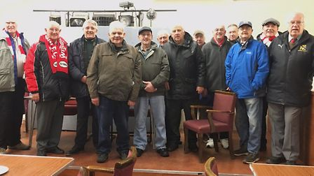 Some of the Wisbech Town fans that attended the UK's first professional football match on a Sunday m