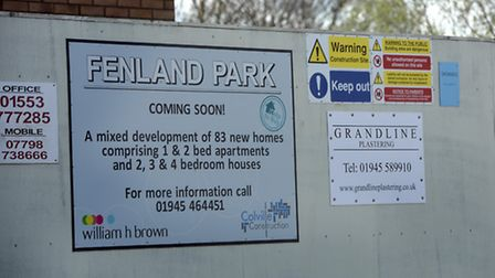 The site of Wisbech Town's old ground, Fenland Park, where houses are now being built. PHOTO: Ian Ca