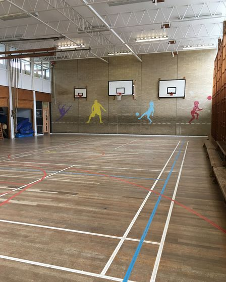 The current sports hall at Onslow St Audrey's School in Hatfield.