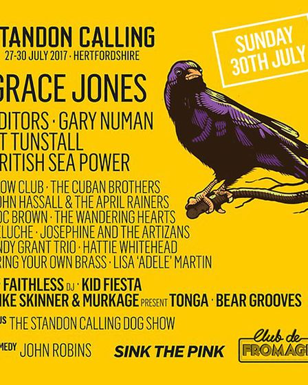 The Sunday line-up at Standon Calling 2017