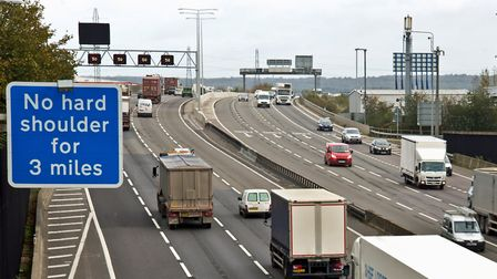 The M25 was disrupted by an accident near Potters Bar.