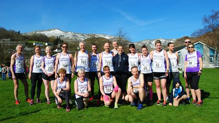 The group of 22 Fenland Running Club members that took on the Coniston 14 last weekend. PHOTO: Fenla