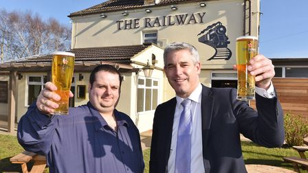 Ironically MP Steve Barclay was invited this week to open a new railway the Railway pub in Whittles
