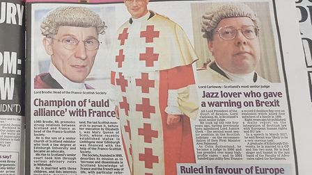 Daily Mail coverage of the 'unlawful' ruling from three Scottish judges. Photograph: Jonathon Read.