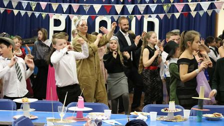 Students at Peckover Primary School in Wisbech dressed in costumes as they ended their term in style