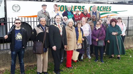 Mayor of Wisbech Councillor Garry Tibbs waved Wisbech Interfaith Forum off on their journey to Walsi