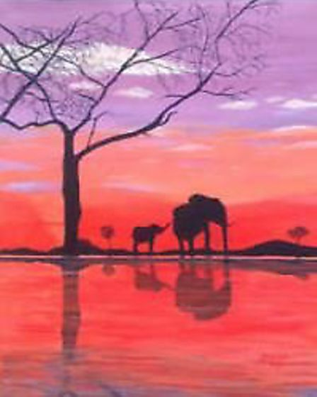 Local artist Esther Marshall is exhibiting 27 of her paintings - which cover a diverse range of subj