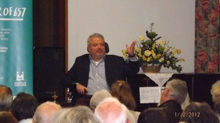 Disabled explorer Michael McGrath attracted a sell-out audience in Datchworth.