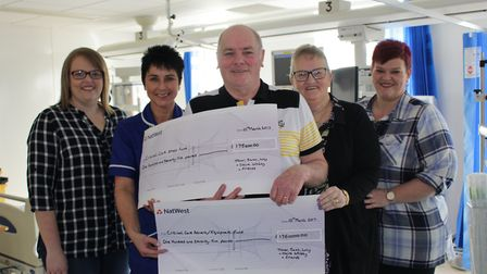 Claire Whitby, Queen Elizabeth Hospital Critical Care Unit Sister Denise Reid, Trevor Whitby, Sarah
