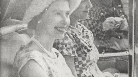 The Queen on her arrival at the QE2 Hospital