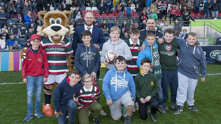 Young players from Wisbech RUFC met players from 10-time English champions Leicester Tigers last wee