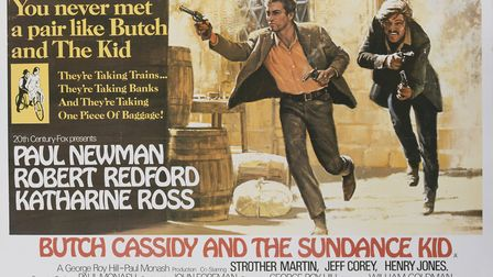 A poster for George Roy Hill's 1969 biopic 'Butch Cassidy and the Sundance Kid' starring Paul Newman