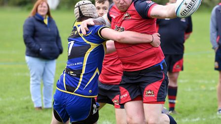 Action from Wisbech Wildcats' Cambs Junior Plate victory over St Ives 2nds. PHOTO: Ian Carter