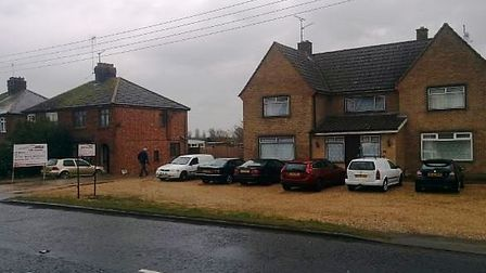 Opposite the site plamnned for 227 homes at Sutton Road, Wisbech