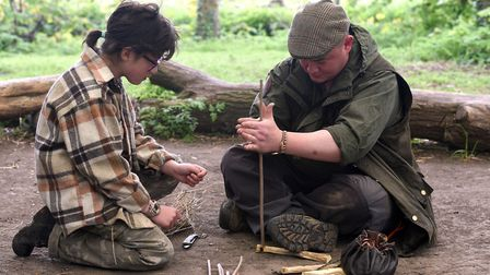 Fenland Bushcraft: Rachel Breen and Geoff Breen.