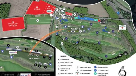 A map of the GolfSixes site at Centurion Club