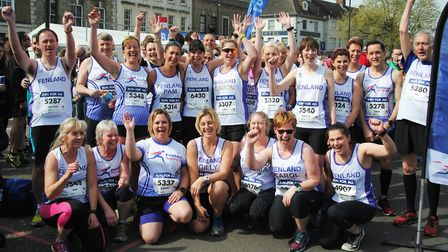 Fenland Running Club members at the Great East Anglia Run (GEAR) 10K. PHOTO: FRC