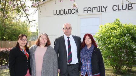 Ludwick Family Club centre manager Jill Weston, chair of trustees Zacha Hennessey, chair of Welwyn H