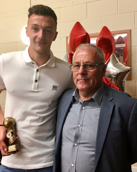 Manager's player of the year, Sam Murphy and Dick Creasey. PHOTO: Spencer Larham
