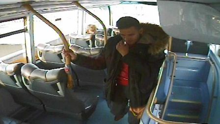 Do you recognise this man? Police want to speak to him about criminal damage to a window of a bus th
