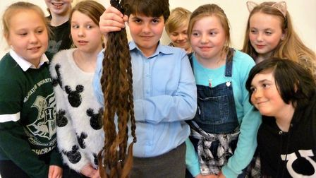 Brave Tilly, 11, raises £700 for Cancer Research UK and donates 32 inches of hair to The Little Prin