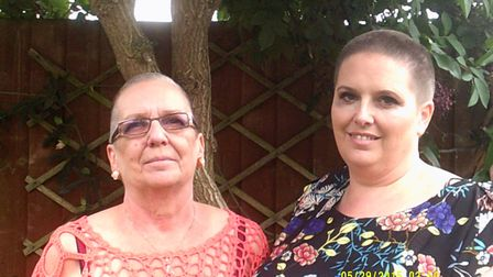 Tilly was inspired by her mum, Lindzi (right) and her gran, Jo (left) who braved the shave last year