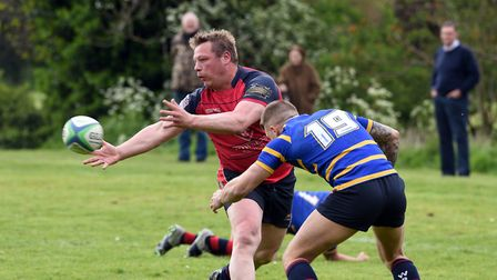 Action from the Wisbech Presidents XV match against the Cambridgeshire County Select XV. PHOTO: Ian
