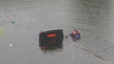 Steve Jones has spoken of the night he entered a 12ft deep Fenland drain to rescue a woman who was