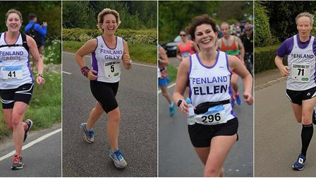 Carol Bowett, Gilly Anderson, Ellen Connolly and Tim Chapman in action. PHOTOS: Roger Kay
