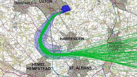 The flight path route with the RNAV navigation system. Credit: Andrew Lambourne