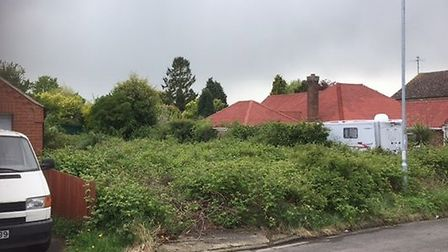 93-94 North Brink, Wisbech, where Fenland Council is requiring overgrown vegetation to be removed.
