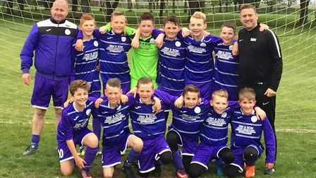 Wisbech St Mary under 12s, who have won the PDFL Junior Alliance Under 12 Division 2 title and Invit