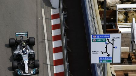 Valtteri Bottas on track ahead of the 2017 Monaco Grand Prix [Picture: Wolfgang Wilhelm for Daimler