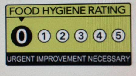 Twelve businesses in Welwyn Hatfield currently have a 0/5 food hygiene rating