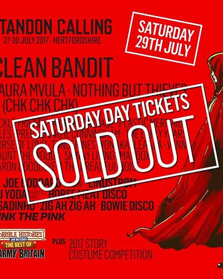 Standon Calling 2017 Saturday has sold out