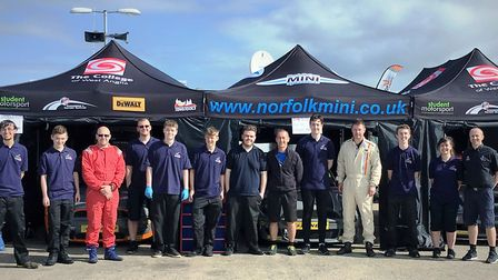 The College of West Anglia's racing team brought home five trophies from Silverstone at the Mini Cha