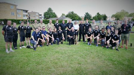 Uniformed services challenge day at CWA Wisbech, featuring four-legged guests, is a success