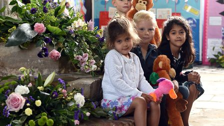 Grace Torssian, Jake Wagg, Sophie Torssian and Josh Wagg at the Walpole St Peter Flower Festival and