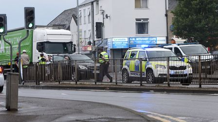 The scene of the accident on Churchill Road on June 2. PHOTO: Ian Carter